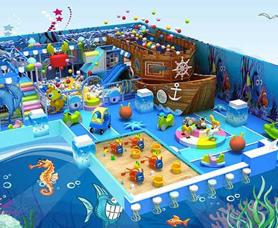 Indoor Playground Equipment - Ocean Theme